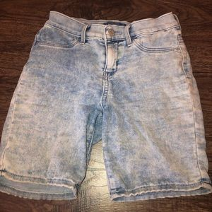 Faded light washed shorts